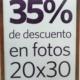 Promo en ampliación de foto