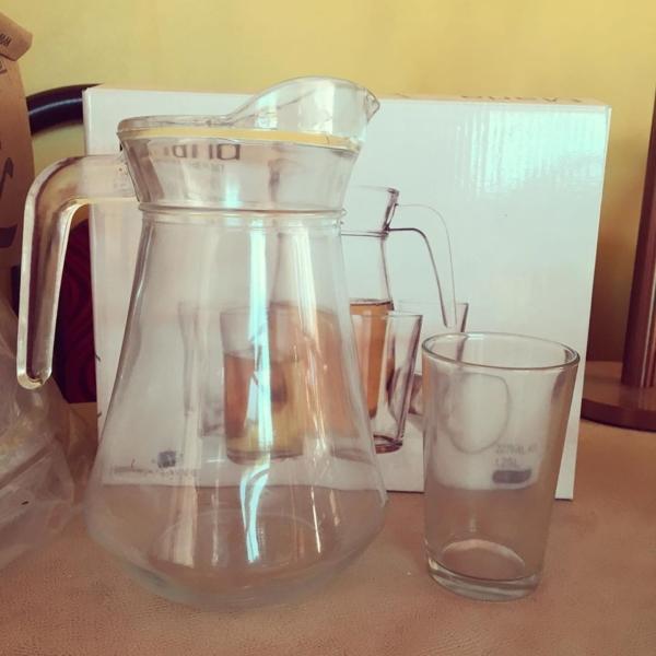 Juego de Jarra + vasos