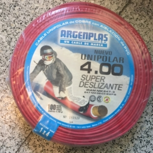 Cable Unipolar 4 mm. Argenplas