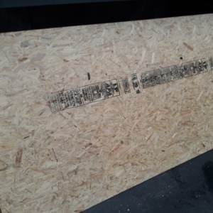 Placa OSB 9.5mm (1.22 mts x 2.44 mts)