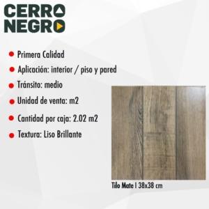 Cerámica Cerro Negro Tilo Mate 38x38 1° (2,02)